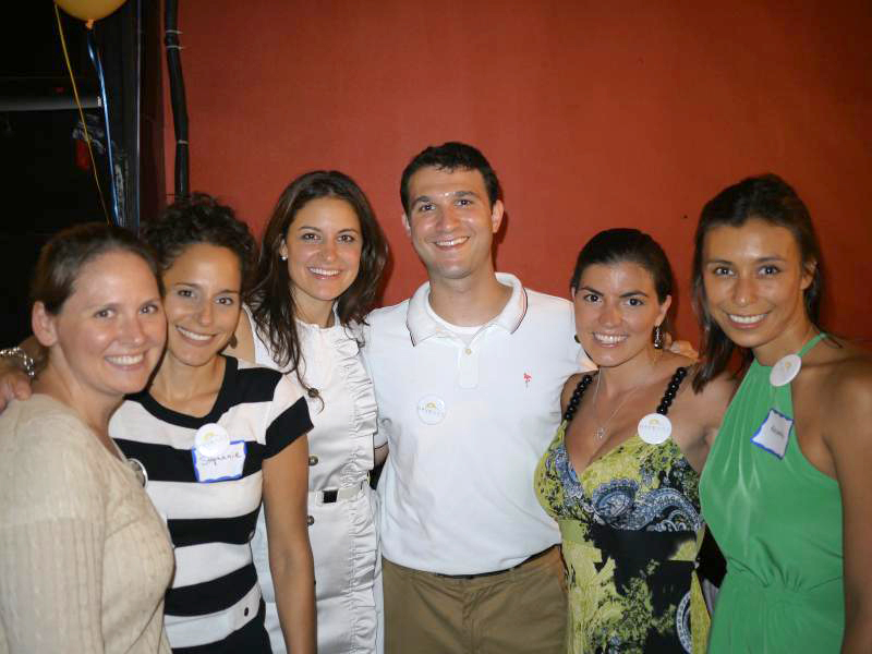 From left: Anne Buckman (Board of Directors and Trivia Night Co-Host), Stephanie Arcella (Development Consultant), Amy Marisa Balducci (Board of Directors), Andrew Sparkler (President), Annie Farrenkopf (Trivia Night Co-Host), and Alexandra Nee (Board of Directors)